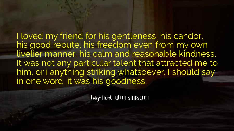 Quotes About Gentleness And Kindness #554309