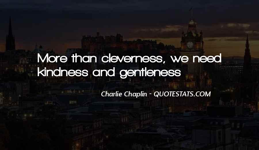 Quotes About Gentleness And Kindness #852718