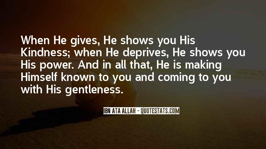 Quotes About Gentleness And Kindness #962058