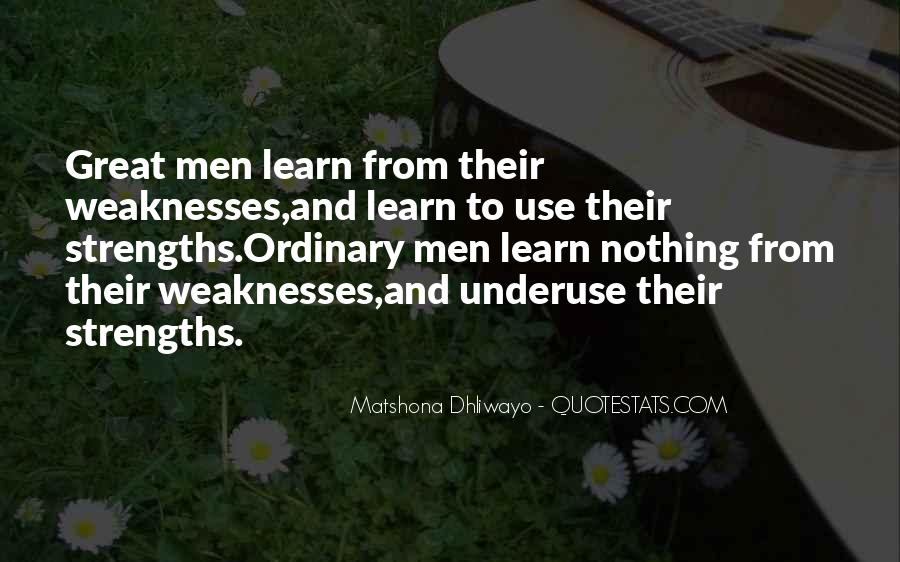 Quotes About Weaknesses #216903
