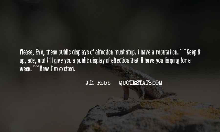Quotes About Public Affection #1298957