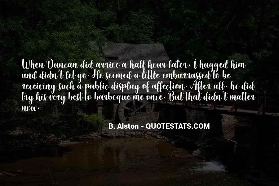 Quotes About Public Affection #1609795
