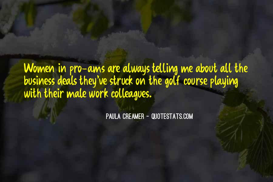 Quotes About Golf And Business #1789611