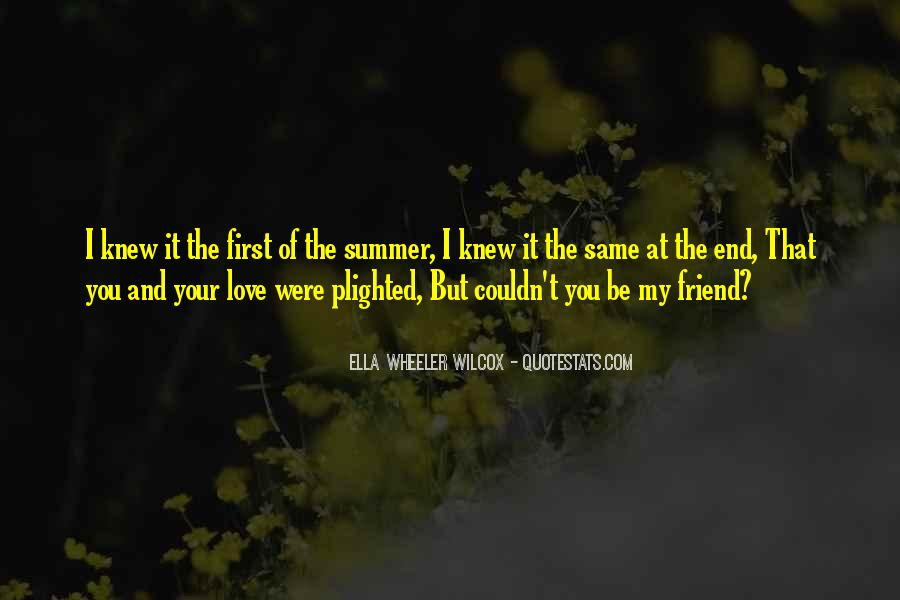 Quotes About The End Of Summer Love #196513