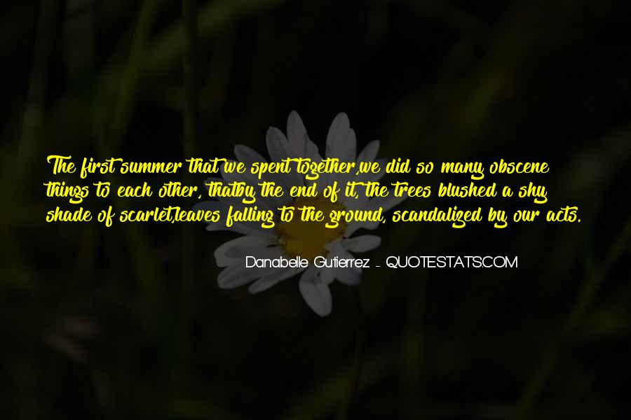 Quotes About The End Of Summer Love #30971