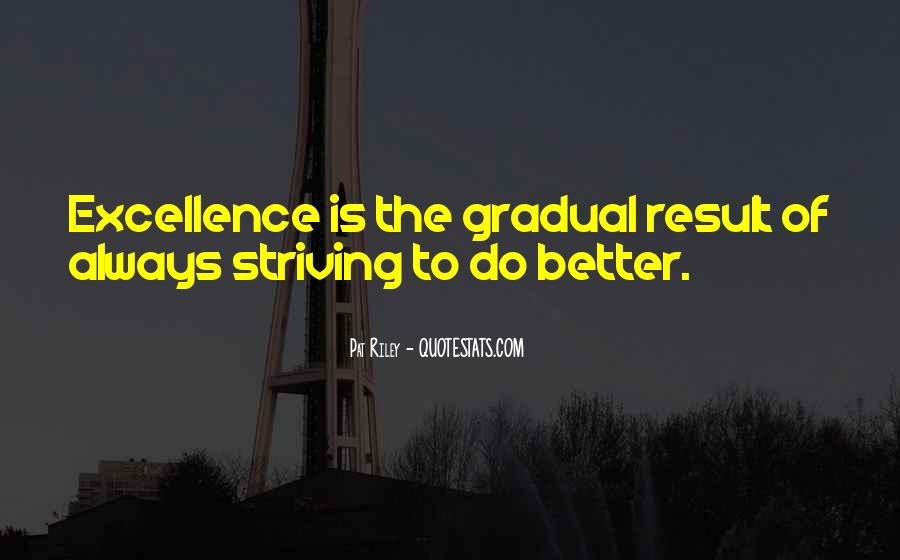 Quotes About Striving For Excellence #1509659