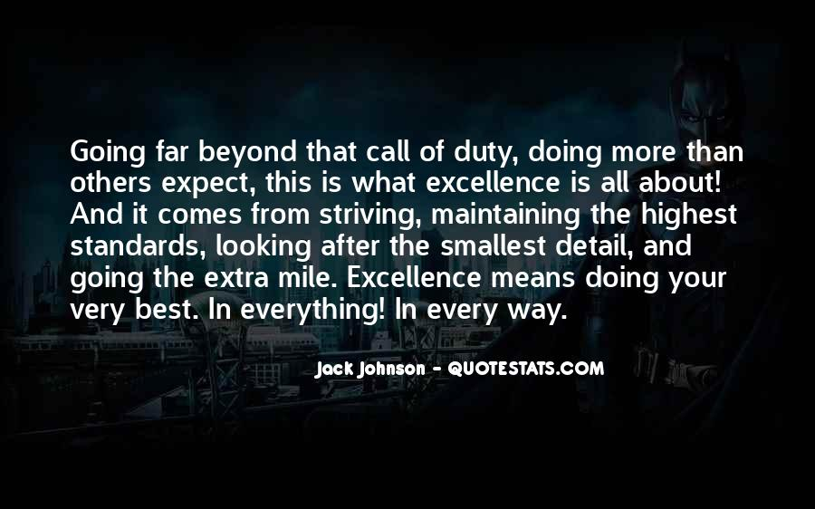 Quotes About Striving For Excellence #92942