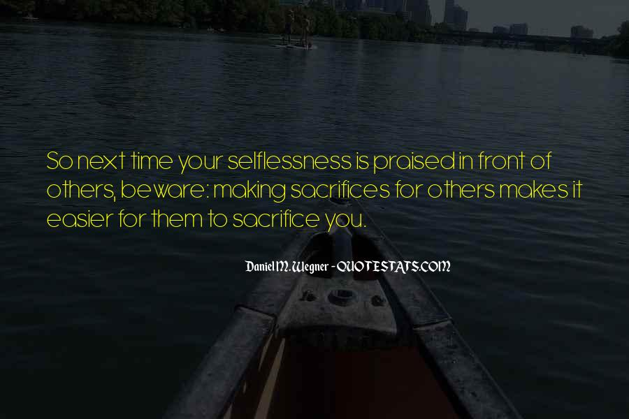 Quotes About Making Sacrifices #334330