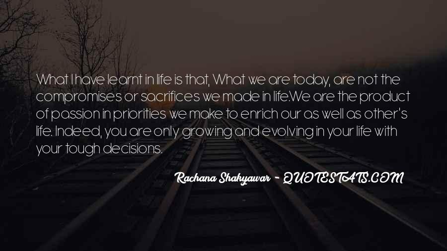 Quotes About Making Sacrifices #970581