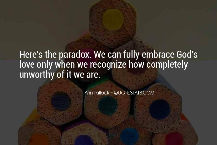 Quotes About Paradox Of Love #800016