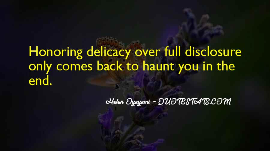 Quotes About Delicacy #517089