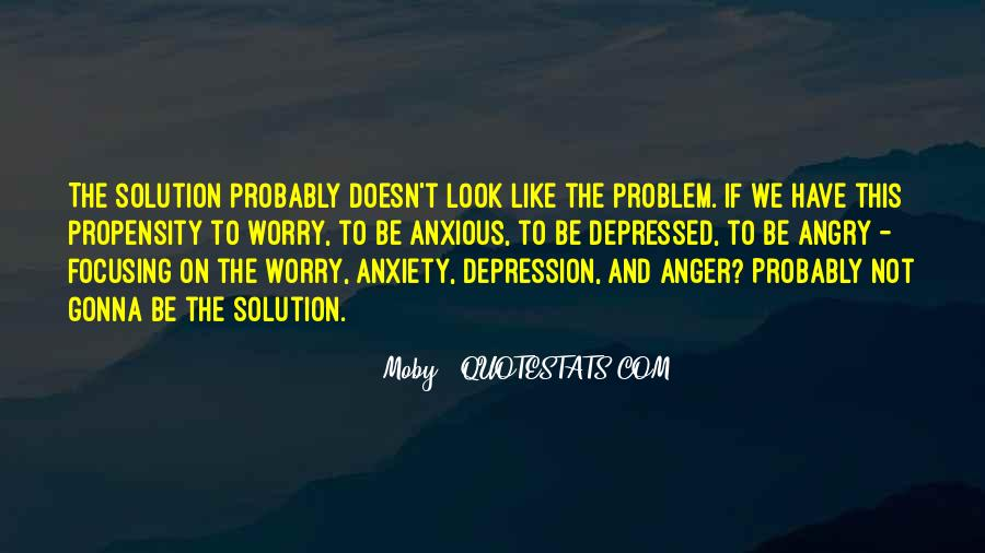 Quotes About Anger And Depression #1168487