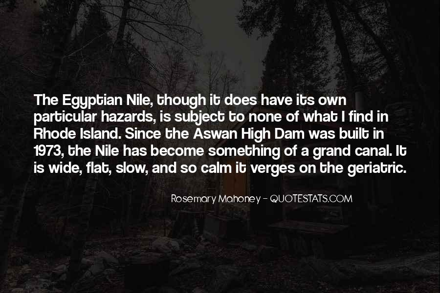 Quotes About The Aswan Dam #1252268