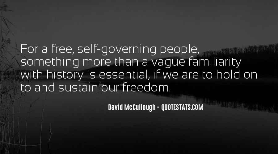 Quotes About Self Governing #1655076