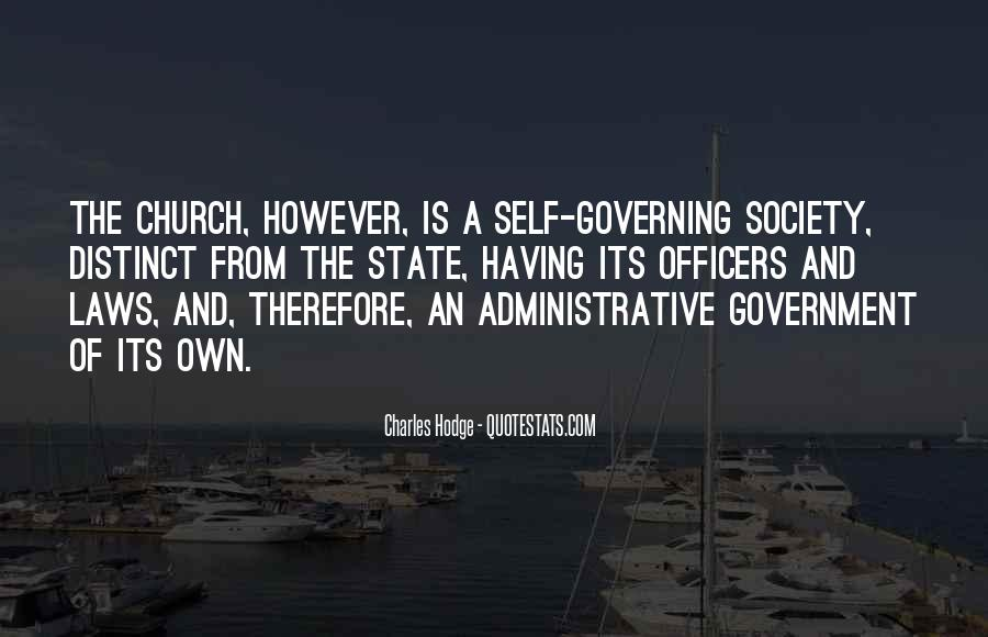 Quotes About Self Governing #504514