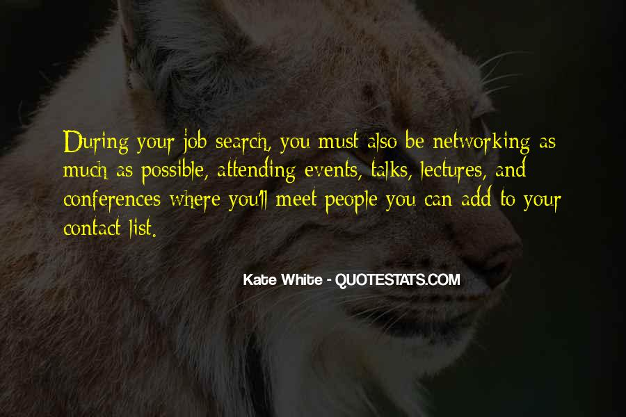 Quotes About Networking Events #1727437