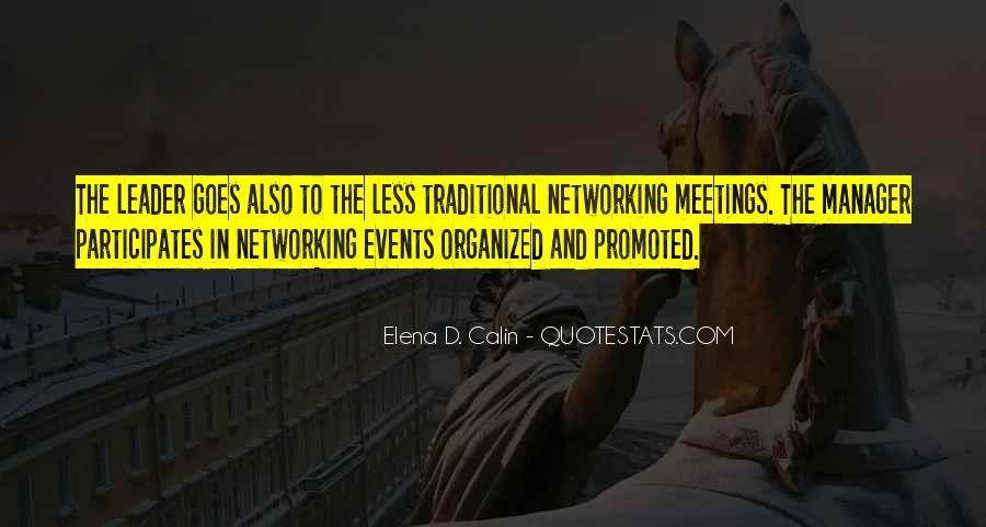 Quotes About Networking Events #7657
