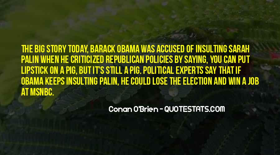 Quotes About Palin Obama #90657