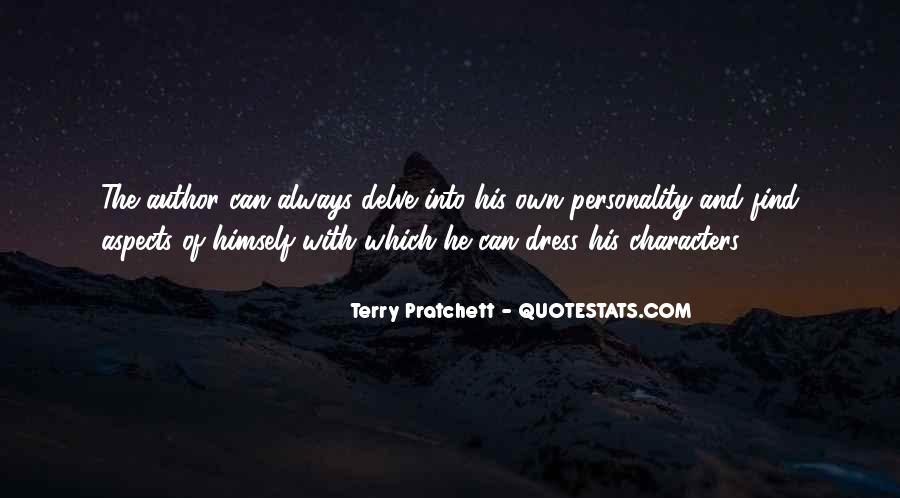 Quotes About Aspects Of Personality #262315
