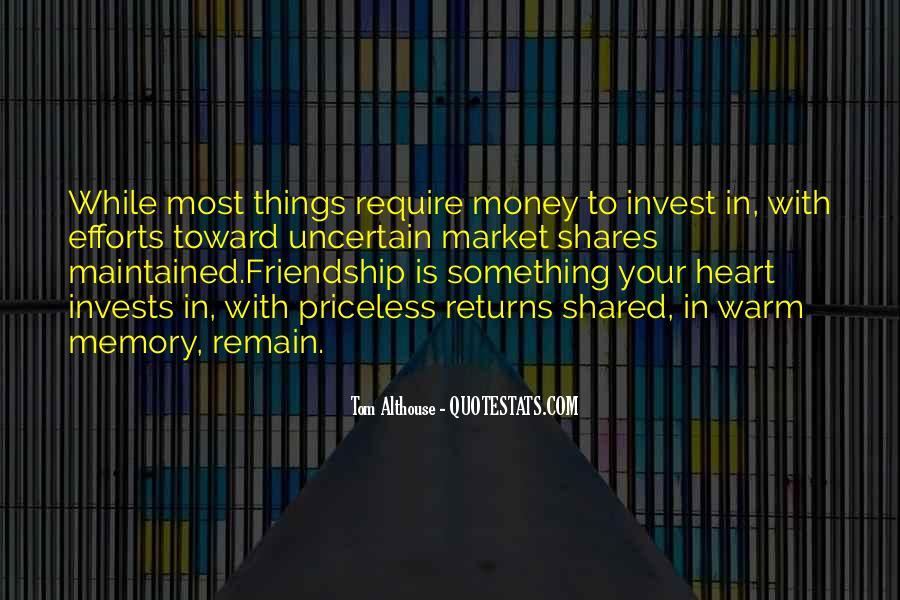 Quotes About Money Vs Friendship #472953