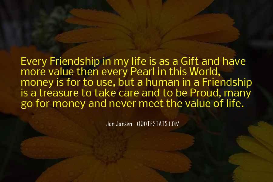 Quotes About Money Vs Friendship #753477
