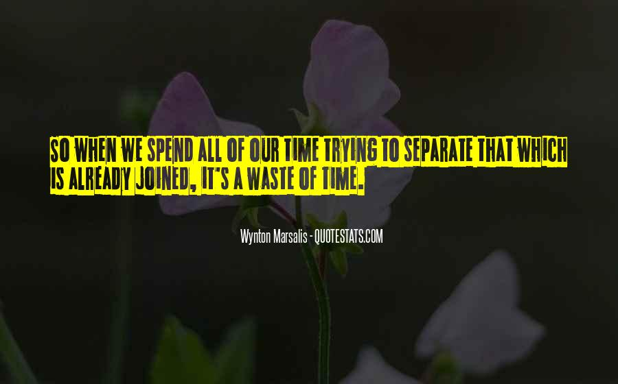 Quotes About Waste Of Time #57841
