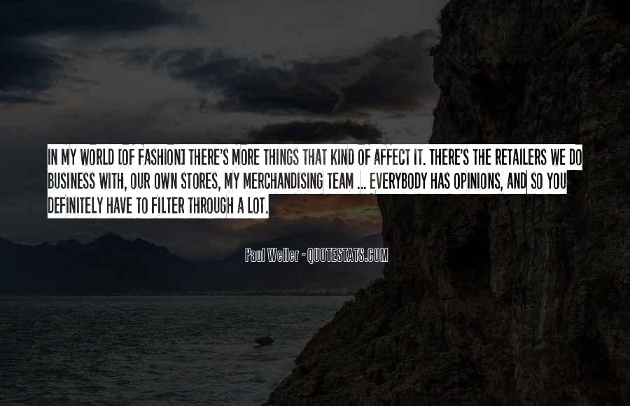 Quotes About Fashion Merchandising #1261944