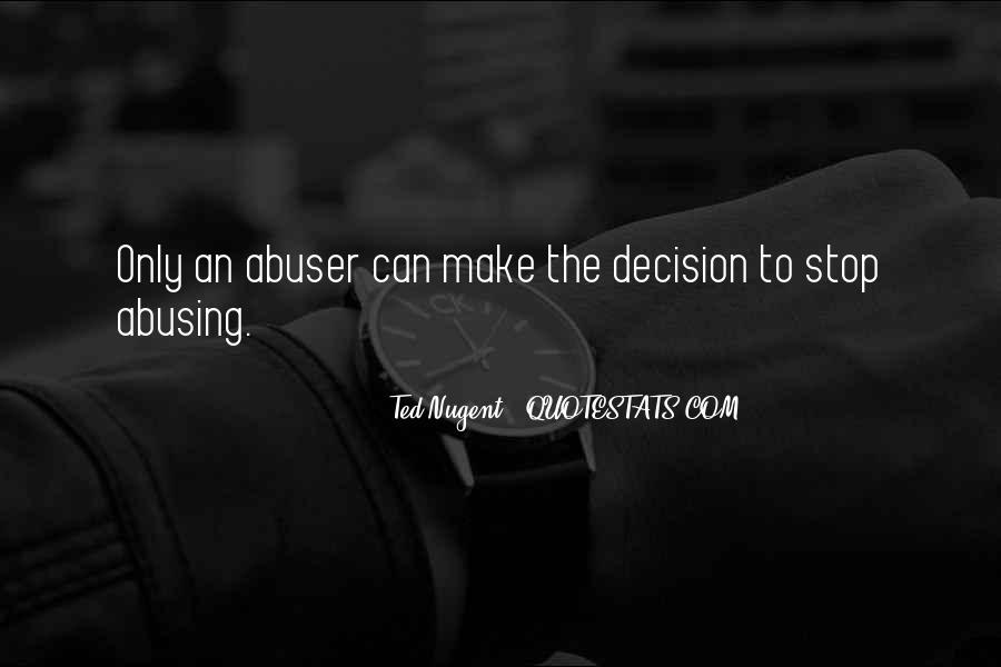 Quotes About Abusers #1212093