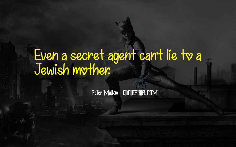 Quotes About Secret Agent #1204078