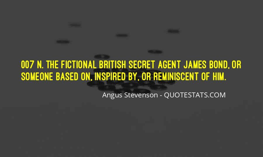 Quotes About Secret Agent #1294228