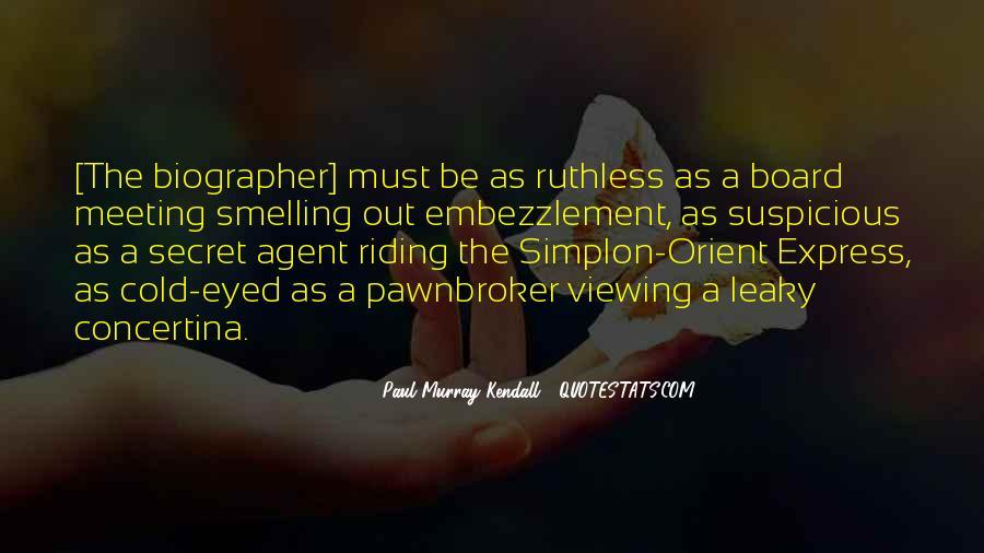 Quotes About Secret Agent #218064