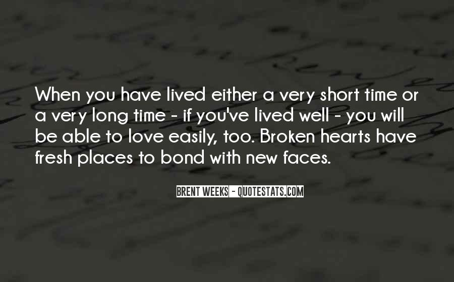Quotes About Short Lived Love #1762658