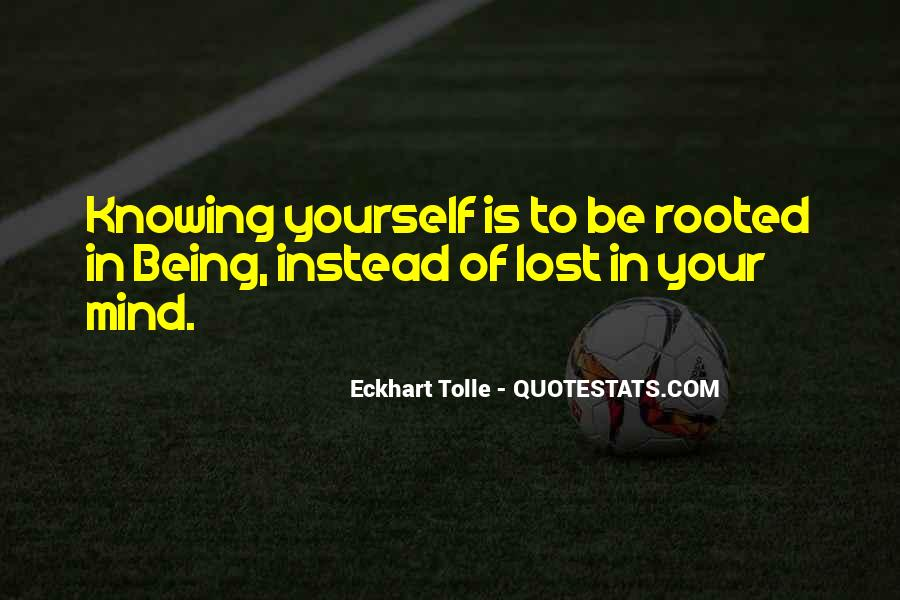 Quotes About Being Lost In Yourself #20847