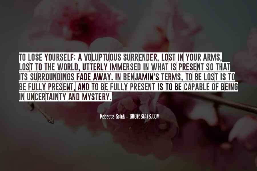 Quotes About Being Lost In Yourself #43666