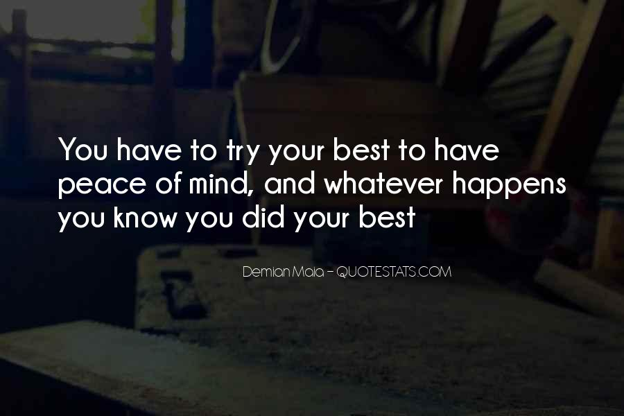Quotes About You Did Your Best #758058