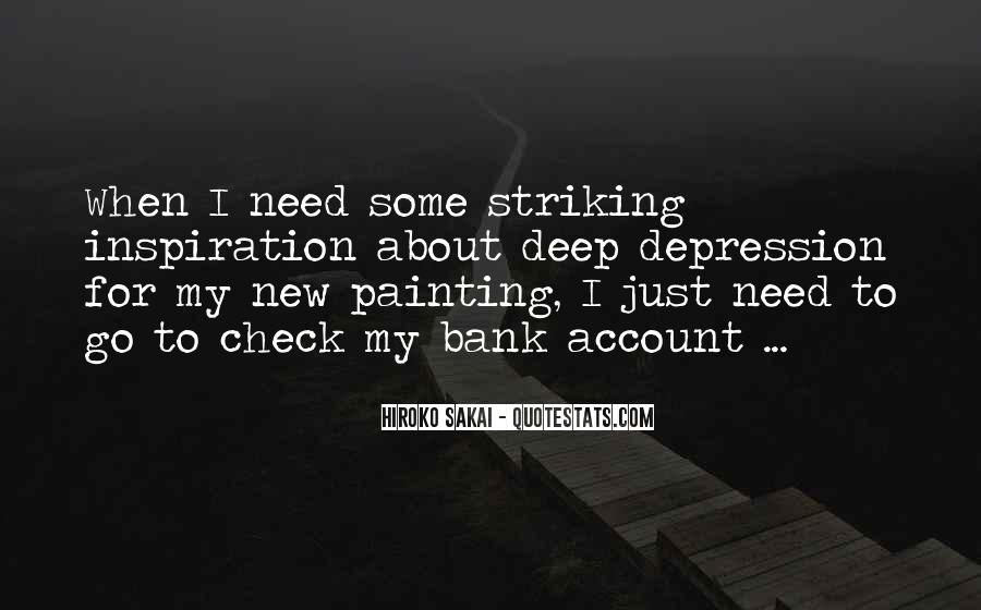 Quotes About Deep Depression #1470810