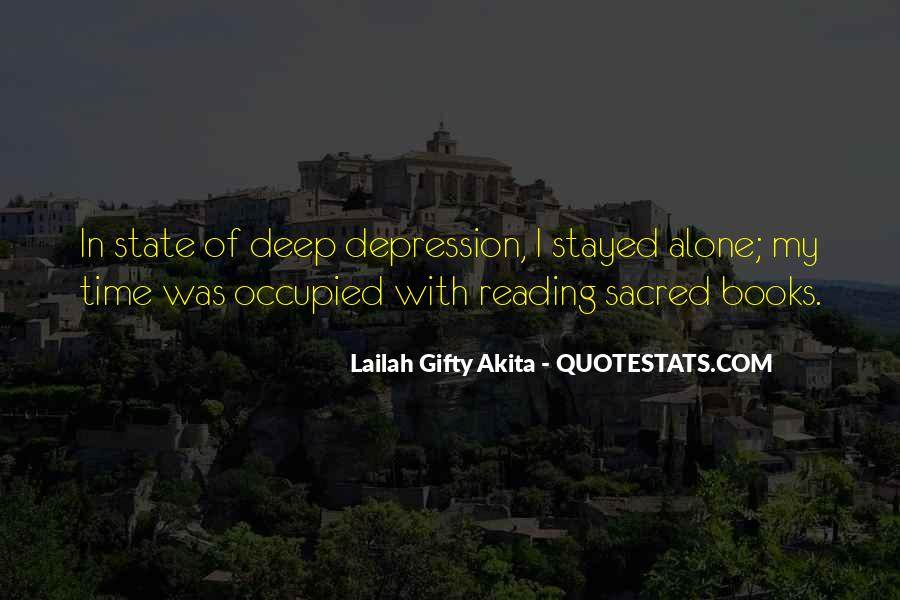 Quotes About Deep Depression #1722607