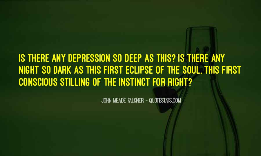 Quotes About Deep Depression #2097