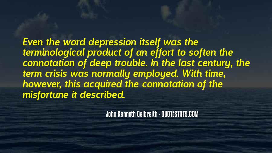 Quotes About Deep Depression #80015