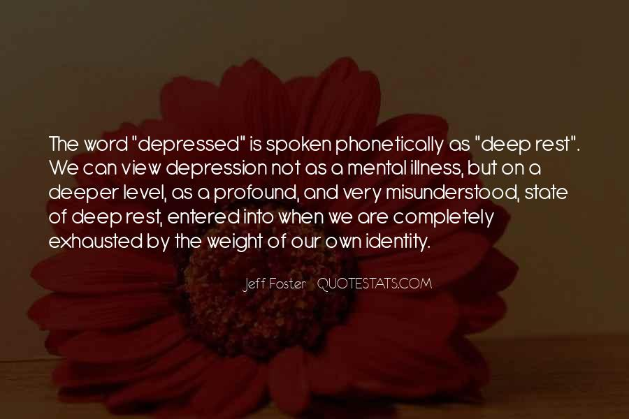 Quotes About Deep Depression #908486