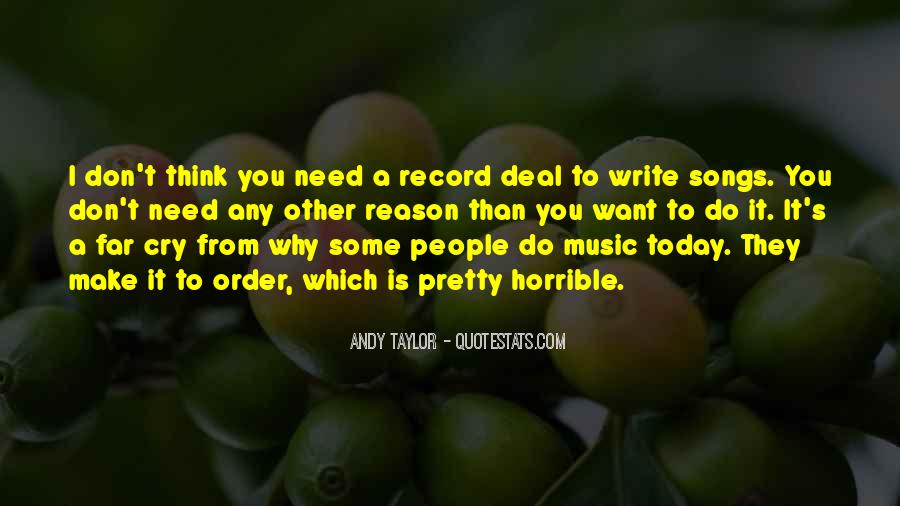 Quotes About Music From Songs #1017272