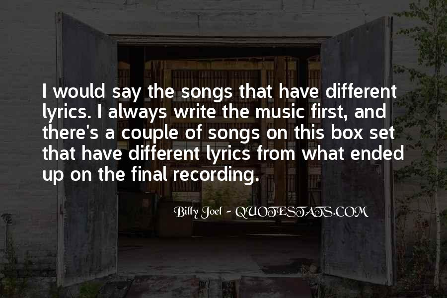 Quotes About Music From Songs #394351