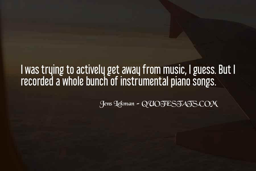 Quotes About Music From Songs #693187