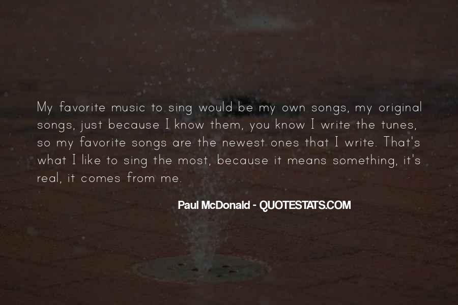 Quotes About Music From Songs #991839