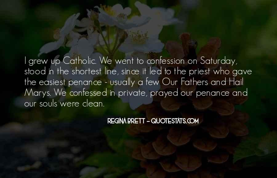 Quotes About Catholic Confession #1543230