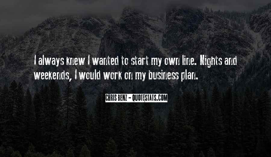 Quotes About Own Business #109879
