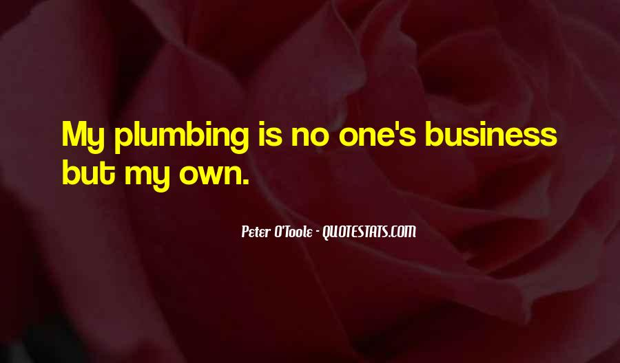 Quotes About Own Business #124768