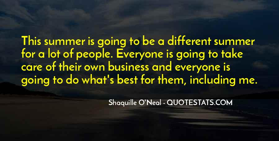 Quotes About Own Business #153884