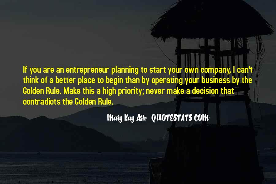 Quotes About Own Business #166850