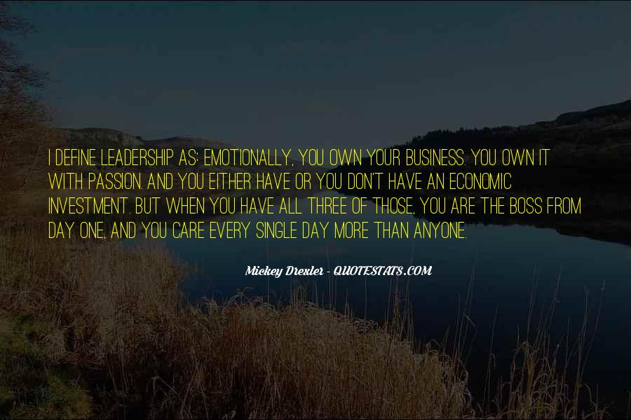 Quotes About Own Business #274594